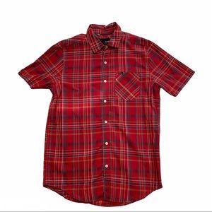 HURLEY plaid short sleeve shirt Style MV5611QNT